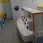 Wasch- und Toilettenbereich Krippe