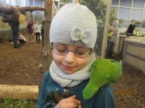 Besuch im Papageienhaus